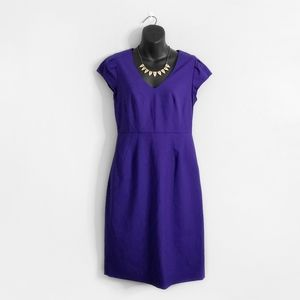 NWT J CREW Purple Purple V Neck Director Dress